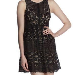 "Dresses & Skirts - Free People ""Rocco"" black lace sleeveless dress"